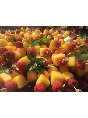 Brochettes de fruits frais (12 pièces)
