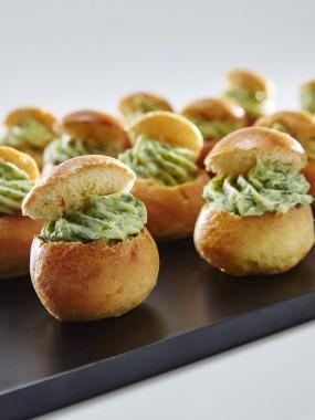 Mini brioches aux escargots (A réchauffer) 15 pièces)